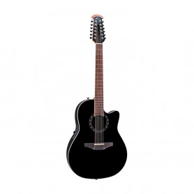 OV551168 Ел. акуст. гітара 12-струнна OVATION Deep Contour Lyrachord Black