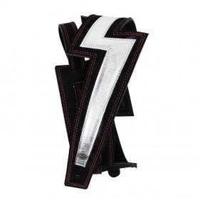 D'ADDARIO 25LNBT00 Lightning Bolt Suede Guitar Strap (Silver)