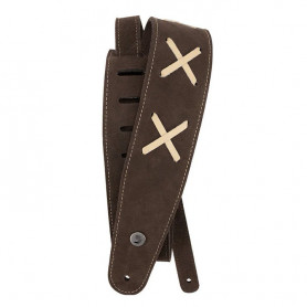 D'ADDARIO 25VDG00 Suede Guitar Strap (Brown) Ремень гитарный
