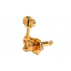 GRAPH TECH PRN-3411-G0 Acoustic 3+3 Skeleton Button Gold Колки для гитары