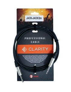 Професійний симетричний (балансний) кабель 0.22 mm2 / AWG 24 Clarity JACK-JACK/2m