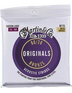MARTIN Originals Acoustic 80/20 Bronze Custom Light (11-52) Струни для акустичної гітари (41Y20M175)