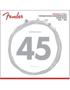 Струны для бас гитары Fender 7150M Pure Nickel (.45-.105)