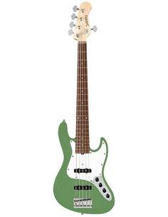 Sadowsky MetroLine 21-Fret Vintage J/J Bass, Red Alder Body, 5-String (Solid Sage Green Metallic Satin) Бас-гітара (SML21VJ5 28