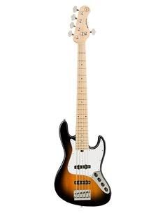 Sadowsky MetroExpress 21-Fret Vintage J/J Bass, Maple, 5-String (Tobacco Burst Transparent High Polish) Бас-гітара (SME21VJ5 69M