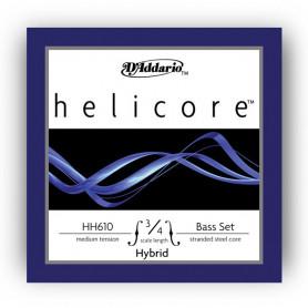 D`ADDARIO HH610 3/4M Helicore Hybrid 3/4M Струны для смычковых фото