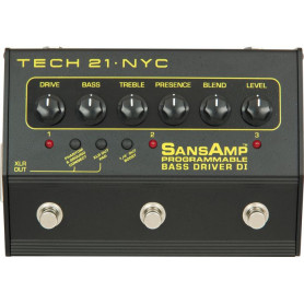 TECH21 SANSAMP BASS DRIVER DI PROGRAMMABLE Педаль эффектов фото